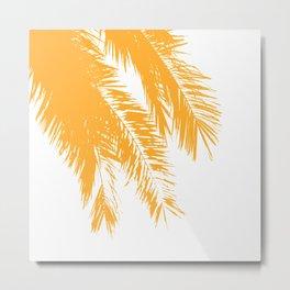 Palm Leaves - Saffron Metal Print