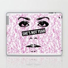 SHE'S NOT YEAH 01 Laptop & iPad Skin