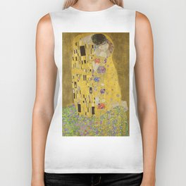 The Kiss by Gustav Klimt Biker Tank