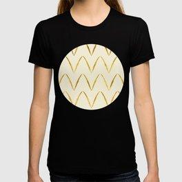 Cream Gold Foil 05 T-shirt