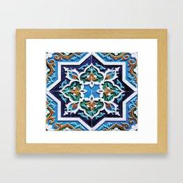 Iranian tiles Framed Art Print