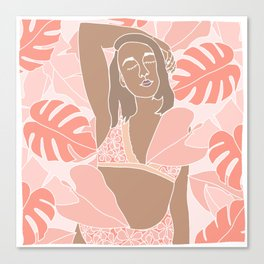 Monstera Days Canvas Print