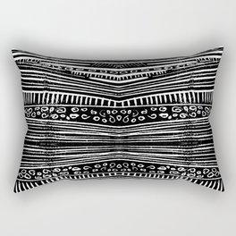 Linocut Tribal Pattern Rectangular Pillow