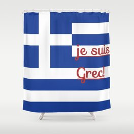 je suis Grec Shower Curtain