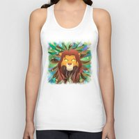 simba Tank Tops featuring Spirit of The Lion King by EmeraldSora