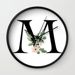 Botanical M Wall Clock