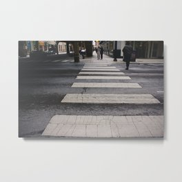 Chicago Crosswalk Cityscape Metal Print