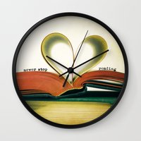read Wall Clocks featuring Read by Lawson Images