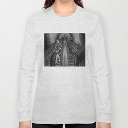 Untitled - charcoal drawing - pretty girl, handsome man, flirting, romance Long Sleeve T-shirt
