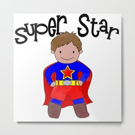 I'm A Super Star Kid Metal Print