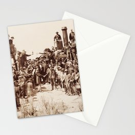 Transcontinental Railroad - Golden Spike Ceremony Stationery Cards