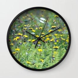 Summer Field Killington Vermont Wall Clock