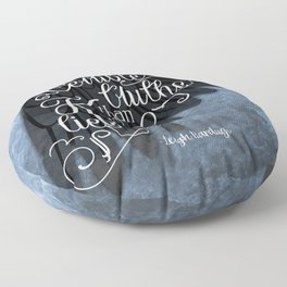 Six of Crows book quote design Floor Pillow