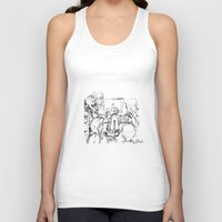 teacher Tank Tops featuring small teacher by Mark Kovalchuk