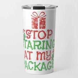 Christmas Gifts Packages Kids Funny Shirt Travel Mug