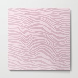 Pink Animal Stripes Metal Print