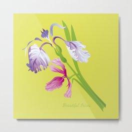 Beautiful Spring Irises Metal Print