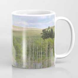 Lake and trees landscape Coffee Mug