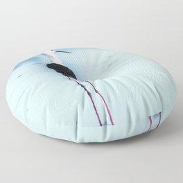 Stilt Bird - Stilt - Mirroring - Avocet - Bird - Watt Bird. Little sweet moments. Floor Pillow