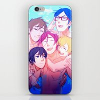 iwatobi iPhone & iPod Skins featuring Make Us Free by blue
