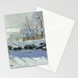 The Magpie by Claude Monet Stationery Cards