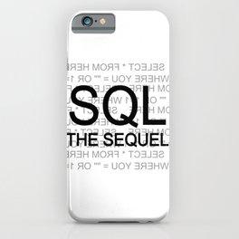 SQL The Sequel Ryu4hd iPhone Case