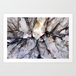 Crystal texture Art Print