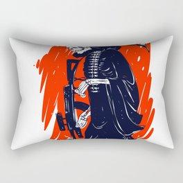 Military skeleton - grim soldier - gothic reaper Rectangular Pillow