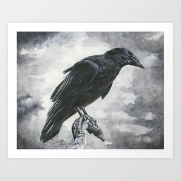 Moody Raven Art Print