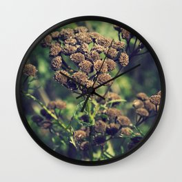 The Brown Flower Wall Clock