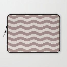 Wavy Stripes Patten Beige Laptop Sleeve