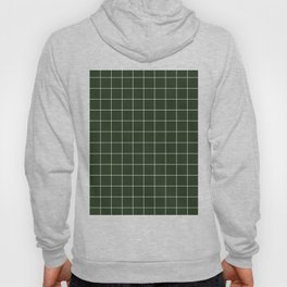 Small Grid Pattern - Deep Green Hoody