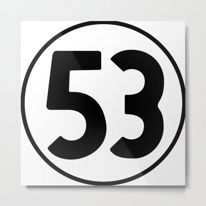53 = Winning Metal Print