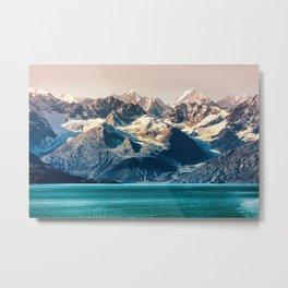Scenic sunset Alaskan nature glacier landscape wilderness Metal Print