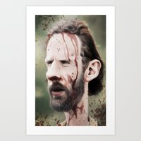 rick grimes Art Prints featuring Rick Grimes by dbruce