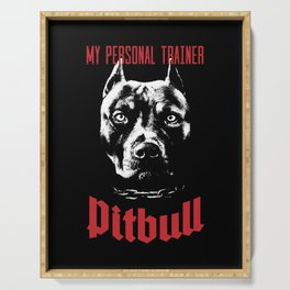 Pitbull My Personal Trainer Serving Tray