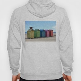 Colorful beach cabinets Hoody
