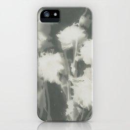 Gray Dahlias iPhone Case