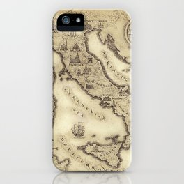 Vintage map of Italy iPhone Case