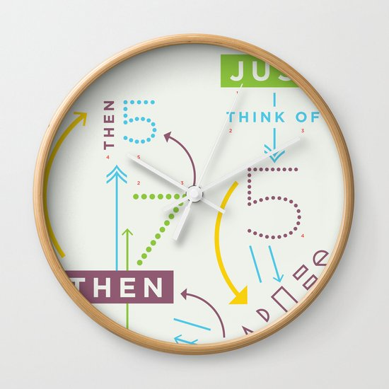 Haikuglyphics - Haikanics Wall Clock