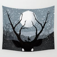 infamous Wall Tapestries featuring Bambi by Rowan Stocks-Moore