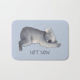Koala Sketch - Not Now - Lazy animal Bath Mat
