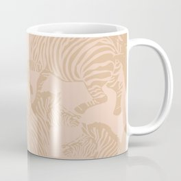 Zebra Stampede in Blush + Beige Coffee Mug