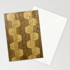 Wooden Zig Zag Optical Cubes Stationery Cards