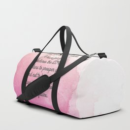 Jeremiah 29:11, Encouraging Bible Verse Duffle Bag