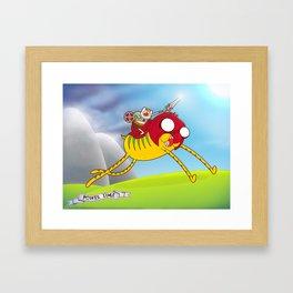 Power Time Framed Art Print