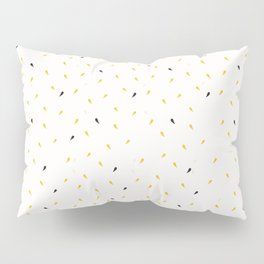 Yellow Gold Ditsy Confetti Drops Trendy Print Pillow Sham