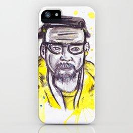 Breaking Bad Walter White aka Heisenberg watercolor painting iPhone Case