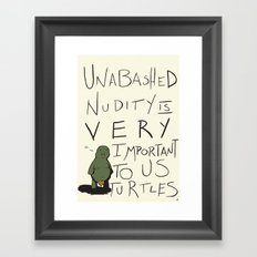Teenie Turtle Weenie Framed Art Print