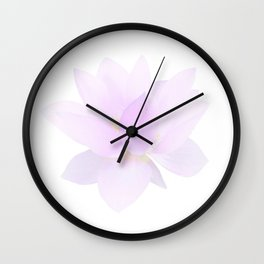 Morning Dew on the Petals Wall Clock